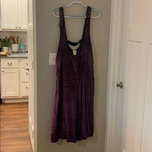 Maeve (Anthropologie brand) velvet purple overalla
